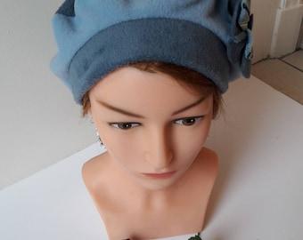 Woman winter fleece beret Hat