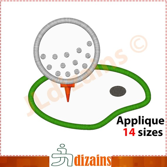 Golf Ball Machine Embroidery Design
