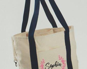 Personalized Organic Cotton Canvas Tote Bag