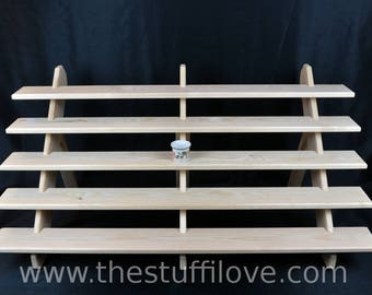 5 Tier Extra Wide Portable Riser Craft fair Display Shelving Stand