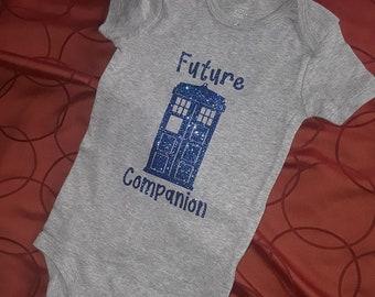 Dr Who inspired Tardis Future Companion bodysuit