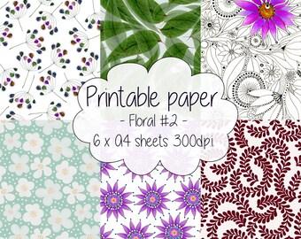 Printable paper: Floral set #2