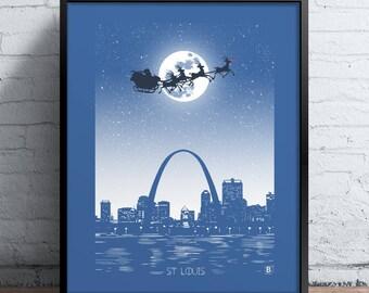 St Louis Holiday Moon Print