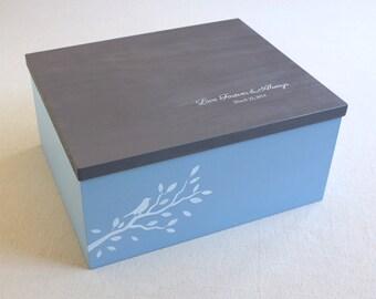 Wooden BOX - custom jewelry box, personalized, wedding photo box, jewelry box, photo box