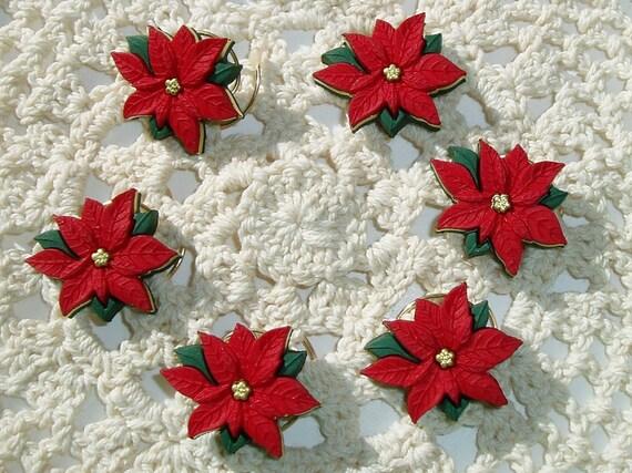 Christmas Hair Swirls-Wedding Poinsettia Hair Spins-Hair Spirals-Hair Twists-Party Hair Accessories