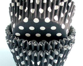Polka Dot Muffin Cases Black 36 in pack
