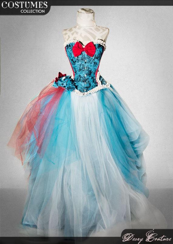 ALICE IN WONDERLAND wedding dress bridal corset corset