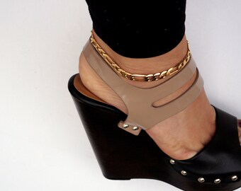 Figaro Chain ANKLET plus charm