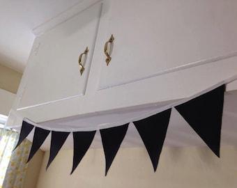 Chalkboard Fabric Decorative Banner / 6.5 x 4.5 inch Triangles (7)