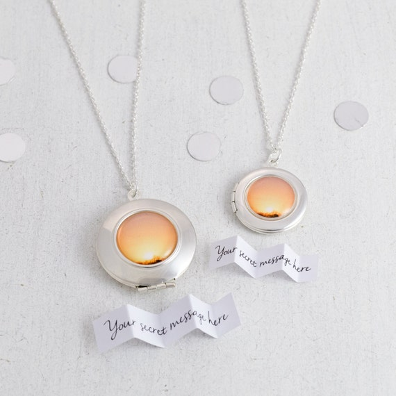 Secret Message Sunset Locket