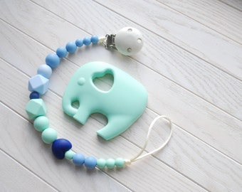Baby pacifier clip holder, chew toy, silicone teething toy