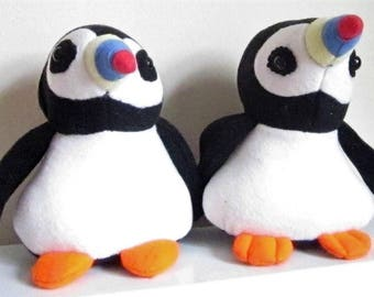 Puffin Stuffed Toy Kids Room Ornament Stuffed Puffin Toy  Nursery Decoration Toddlers Best Friend Ornamental Toy Kids Room Decor Unusual Toy