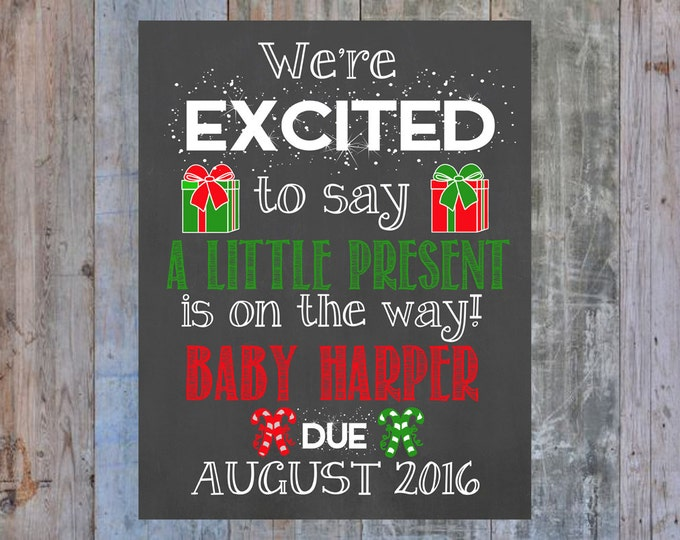 Christmas Pregnancy Announcement / Christmas Pregnancy Reveal / Christmas Gift / Pregnancy Announcement / Pregnancy Reveal / Baby on the Way