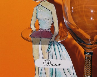 Sitting Settings - Art Place Cards for Parties - The Hip Party Girl