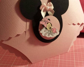 Minnie Mouse  or Mickey Mouse Diaper Invitation for Baby Shower