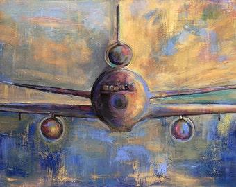 KC-10 Paper Giclée Print (unframed), Aircraft Art Painting by Tif Sheppard