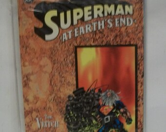 1995 Superman At Earth's End Trade Paperback  Graphic Novel Prestige Format VF-NM Unread Vintage DC Comic Book