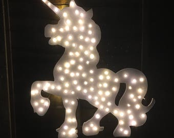 Unicorn LEDS - White - Princess - Playroom