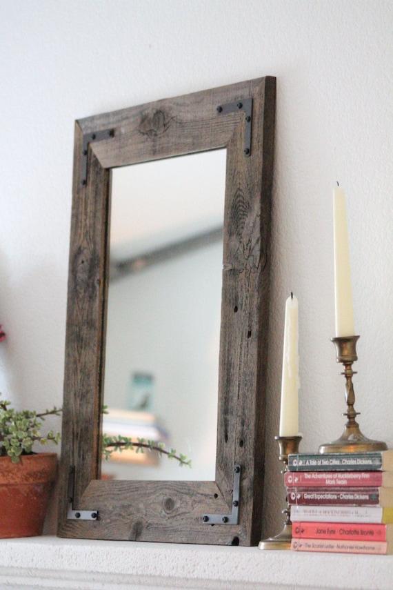 petit miroir petit bois encadr e miroir miroir mural bois. Black Bedroom Furniture Sets. Home Design Ideas