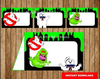 Ghostbusters Food labels, Printable Ghostbusters Food tent cards, Ghostbusters party Food labels Instant download