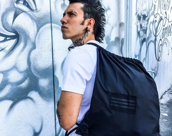BLACK FACTION PACK Convertible Pouch and Pocket Nylon Backpack