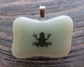 0102 - Southwestern Frog Fused Glass Pendant