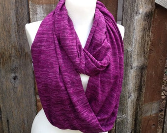 Purple Scarf, Purple infinity scarf, Soft Scarves, Nursing scarf, heather Knit Scarf, Women's scarf, Gift for Mom circle scarf gifts for her