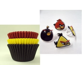 Angry Birds Rings with Assorted Baking cups
