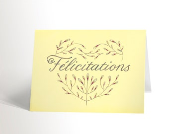 The FÉLICITATIONS card