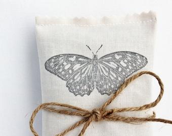 Lavender Scented Sachet, Butterfly No. 4 Lavender Sachet, Mariposa Garden Wedding Favor
