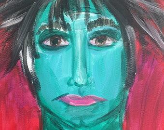 Robert Smith acrylic painting