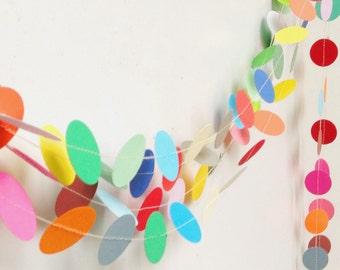 Party Decor, Birthday Decoration, Wedding Decor, Home Decor, Paper Garland, Paper Decoration, Photo Prop, Nursery Decor, 1 1/2 inch Circles