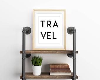 Travel Print, Travel Poster, Travel Decor, Black and White Wall Art, 11x14 Print, 8x10 Print