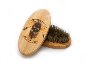 FaceKevlar Bamboo Wood Boar Brush