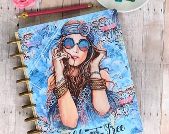 Planner Cover/ Wild and Free/planner/ laminated