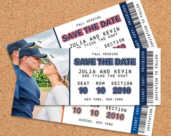 Ticket Save The Dates / Digital File