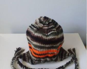 Baby earflaps camo hat