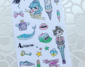 Don't Forget To Smile Planner Stickers Mini Deco