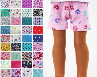 Fits like Wellie Wishers Doll Clothes - Knit Shorts, You Choose Print | 14.5 Inch Doll Clothes