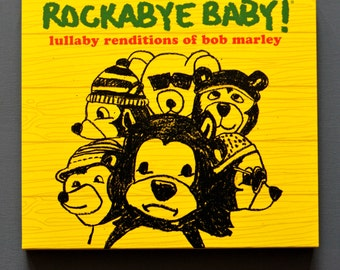 Bob Marley Baby Lullaby Music CD. Instrumental lullaby songs for the nursery. Funny baby gift for Reggae fans.