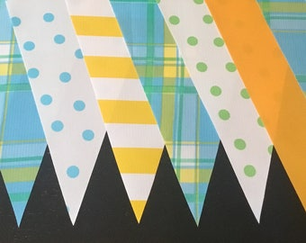 KIT #15 (2 pk) Mad for Plaid 15' Oilcloth Pennant Banners Bunting Flag Garland Party Shower Camper Photo Prop