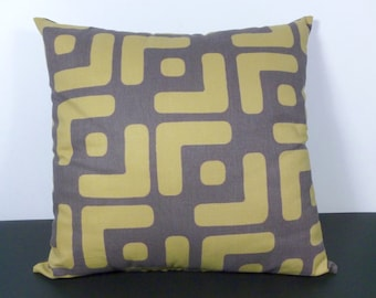 Modern Pillow African Ethnic Style in Brown, Olive Green  (F10)