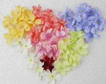 """50 Pcs Artificial Silk Flowers Heads,1.96"""",Hair Accessories Flower Supply,For Wedding Pomander Kissing Ball Table Centerpieces(131-19)"""
