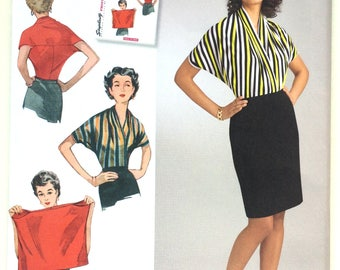 Simplicity 8452 Misses' 1950s Vintage Knit Blouse. Size Small - Large
