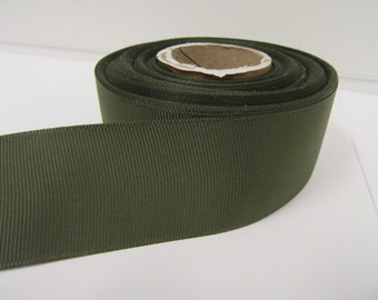 Grosgrain Ribbon 3mm 6mm 10mm 16mm 22mm 38mm 50mm Rolls, Olive Dark Green, 2, 10, 20 or 50 metres, Ribbed Double sided,