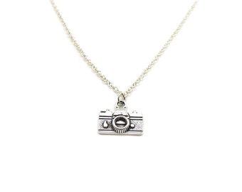 Camera Necklace, Charm Necklace, Charm Jewelry, Camera Pendant, Tiny Camera Jewelry, Dainty Camera Charm, Jewelry Gift, Photography Necklace