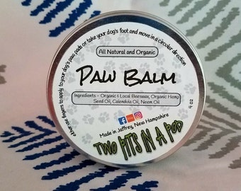 Paw Balm - Balm for Dog's Paws - Organic Paw Balm for Dogs - Protection against Dry Paw Pads - Cracked Dog Paws - Soothing Paw Balm