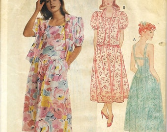 McCall's 3142 Misses Easy Unlined Jacket And Sundress Sewing Pattern,  Size 10, UNCUT