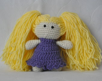 Handmade crochet doll, doll, Long Hair Blonde Doll