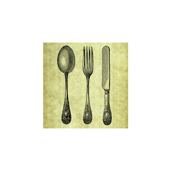 TABLEWARE RUBBER STAMP~Fork Knife Spoon~Silverware~Table Setting~Vintage~Antique~Home Decor~Dinner Invitation~Thank you~ Cling St& (53-03) from ...  sc 1 st  Etsy Studio & TABLEWARE RUBBER STAMP~Fork Knife Spoon~Silverware~Table Setting ...